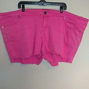 Torrid Hot Pink Jean Shorts
